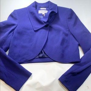 Calvin Klein | Cropped Purple Blue Stretch Blazer